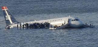 Avión accidentado rio Hudson